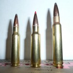 Left to right: .308 win, 338 RCM and 338 Winchester Magnum.