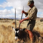Charlie with gemsbok