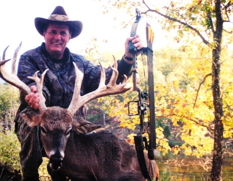 The author with a buck