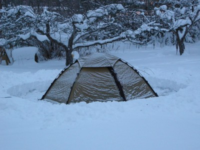 Camping in -15 Celcius weather in a Hilleberg Staika
