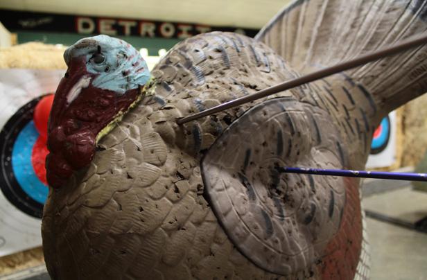 """Our 3-D targets at Detroit Archers """"Discover Archery"""" program"""