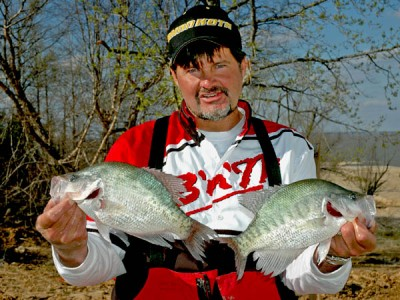 Ronnie Capps with some crappie