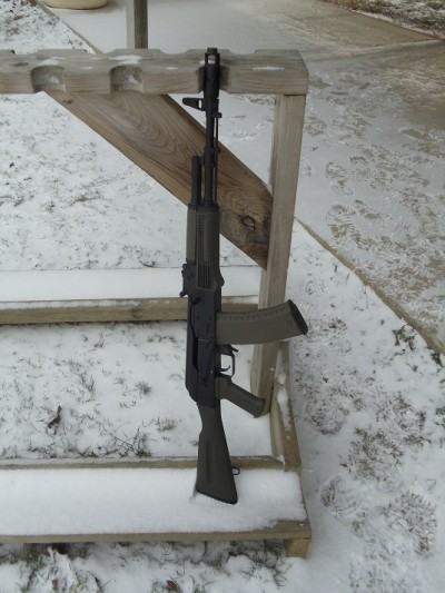 The SGL31-47 in the gun rack at the range.