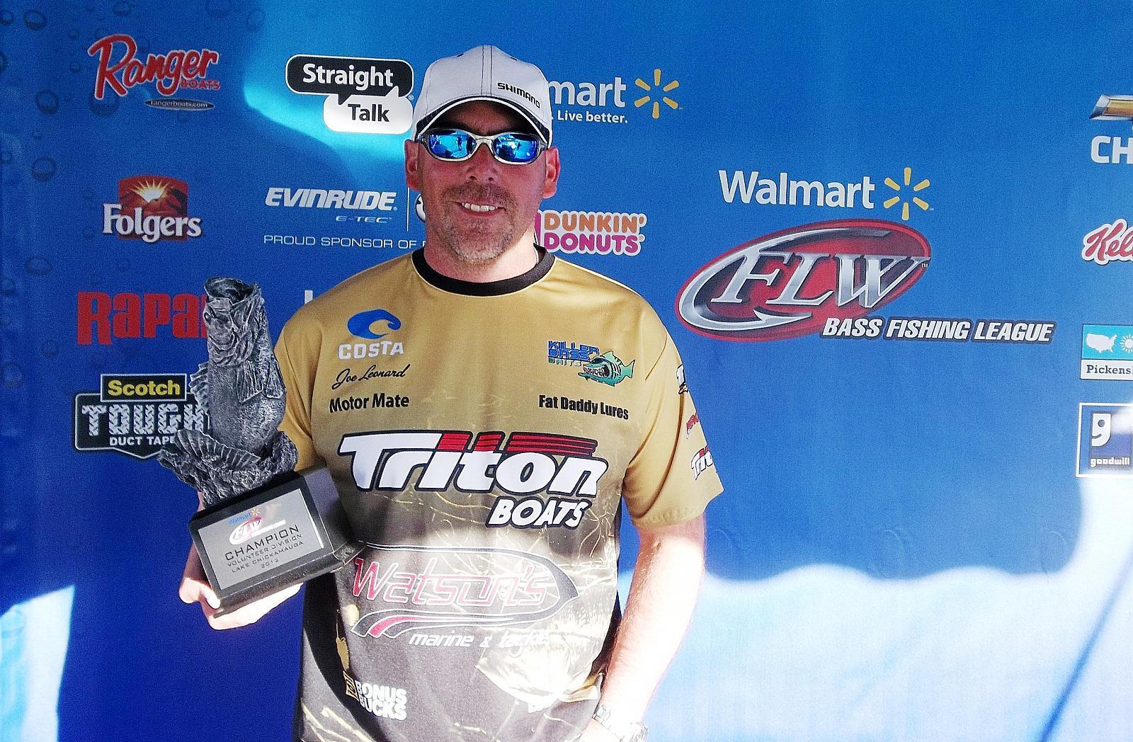 Leonard wins walmart bass fishing league volunteer for Fishing license va walmart