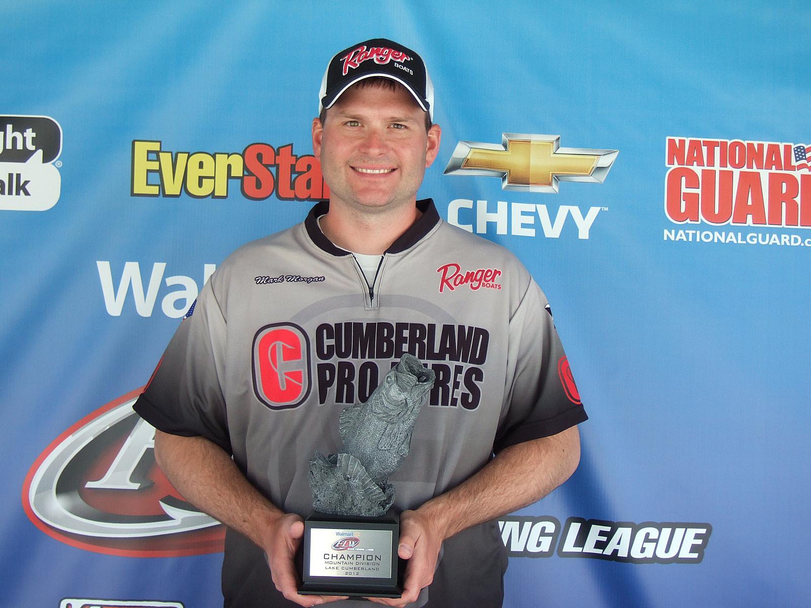 Morgan wins walmart bass fishing league mountain division for Fishing weights walmart