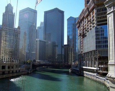 View of the Chicago River in downtown Chicago. *Note: This is not necessarily a view of the exact rescue location.