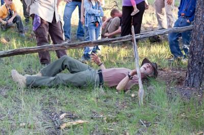 John McCann during a demonstration for Dirt Time 2010