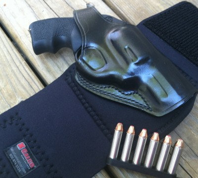 The Galco Ankle Glove with a Ruger LCR .357