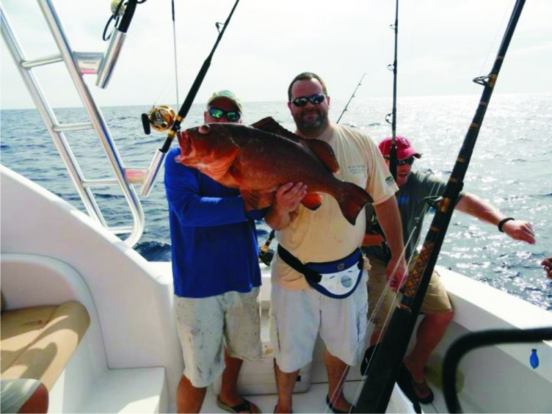 John Wrenn with State Record Red Grouper