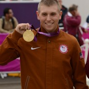 In double record-setting fashion, Sgt. Vincent Hancock became the first shotgun shooter to win consecutive Olympic gold medals in men's skeet on Tuesday at the Royal Artillery Barracks. Hancock, 23, a Soldier in the U.S. Army Marksmanship Unit from Eatonton, Ga., eclipsed his own records set at the 2008 Beijing Games for both qualification (123) and total (148) scores. He struck gold in China with a qualification score of 121 and total of 145. Hancock prevailed by two shots over silver medalist Anders Golding (146) of Denmark and by four shots over Qatar's Nasser Al-Attiya (144), who secured the bronze medal by winning a shoot-off against Russia's Valeriy Shomin.
