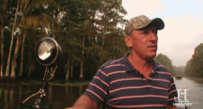 Video screenshot of Troy Landry as he takes his nephews out on an alligator hunt.