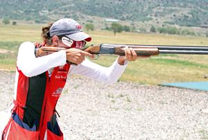 The 2012 Women's Trap National Champion Rachael Heiden took aim during the final.