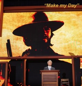 """Clint Eastwood """"Makes the Day"""" for many at the 2012 GOP Convention in Tampa, FL"""