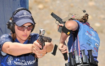 Julie Golob and her Julie double