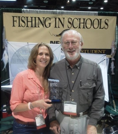 Katie M. Cole, Program Director for the National Fishing in Schools Program  Accompanied by her father Dana C. Cole, Founder/Director - National Fishing in Schools Program
