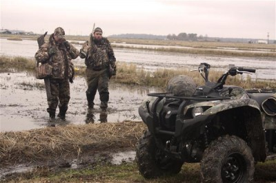 Let's face it, if waterfowlers can get another couple dozen goose or duck fakes in their hunting location, they will. Your Yamaha ATV or Side-by-Side will help you set those monster decoy spreads. Those four wheels will get you there and back. Photo: Yamaha Outdoors