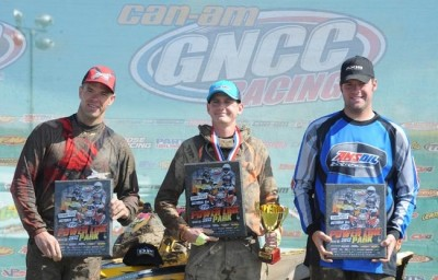 Bryan Buckhannon, the defending 4x4 Open class GNCC champion, won his class and took the morning overall at round 11 aboard his Can-Am Outlander ATV.