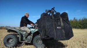 Decoy bags on ATV transport system