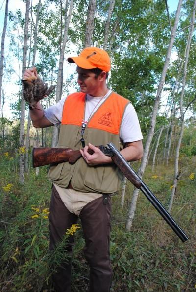 Chris Stewart shows off his early season woodcock.