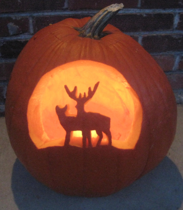 A Hunter S Halloween Deer Pumpkin Carving Ideas