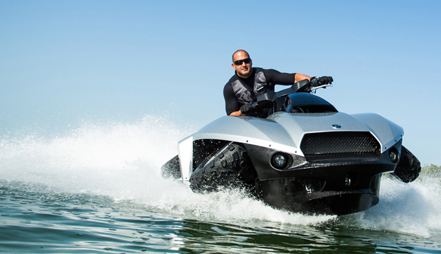 BMWpowered Quadski Jetski  ATV Hits the Market Next Month