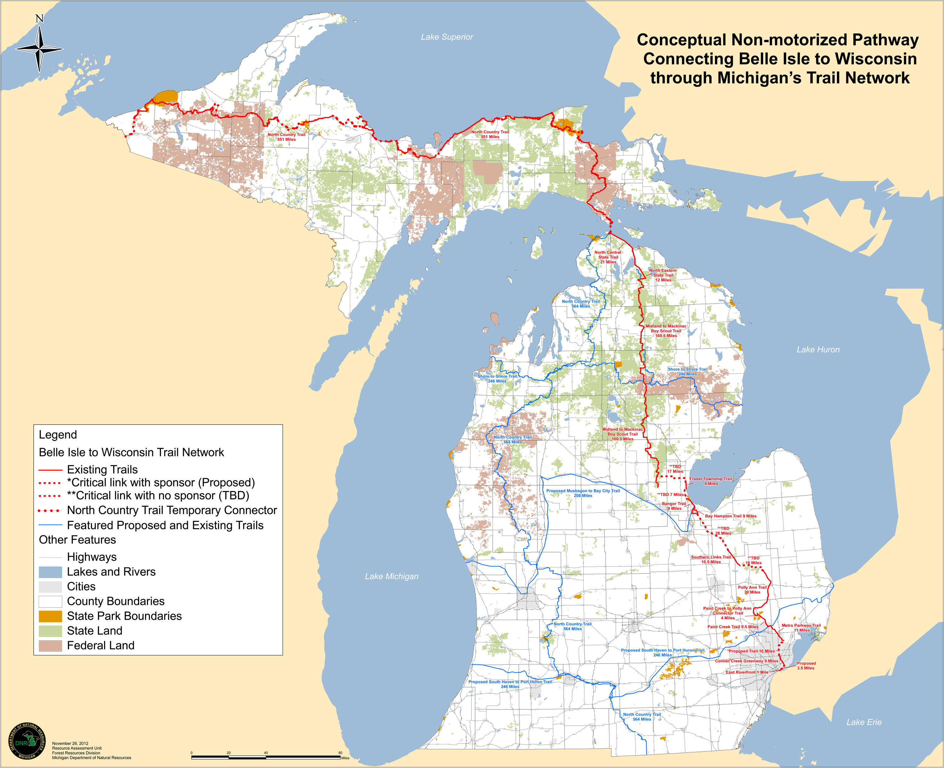 Michigan S Governor Proposes 599 Mile Trail Connecting Detroit To