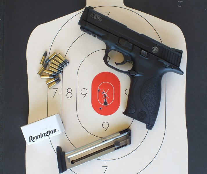 The Smith & Wesson M&P .22LR pistol looks and functions just like its centerfire cousins.