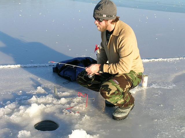 Reality ice fishing show hopes to make it big outdoorhub for Ice fishing expo