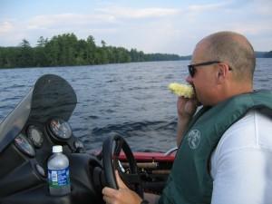 Snacking on Lake Squam