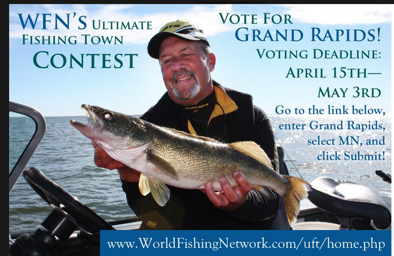Win a guided grand rapids fishing trip in minnesota for Outdoor news mn fishing report