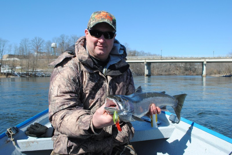 A late spring and ample steelhead in southern michigan for St joseph michigan fishing report