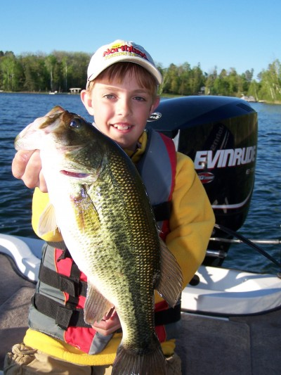 If you're after largemouth bass in shallow water, keep quiet and the action will improve.