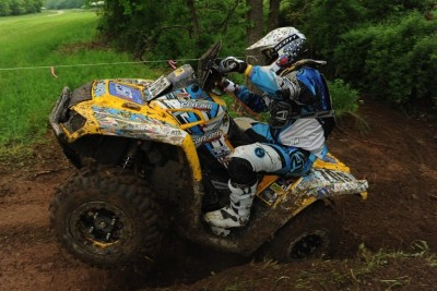 Can-Am Outlander ATV racer Forrest Whorton notched the 4x4 Senior (40+) class win at the Limestone 100 in Indiana.