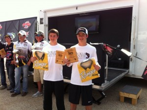 Brothers Jake and Josh Dugger finished in second with a weight of 13 lbs. 5 oz.