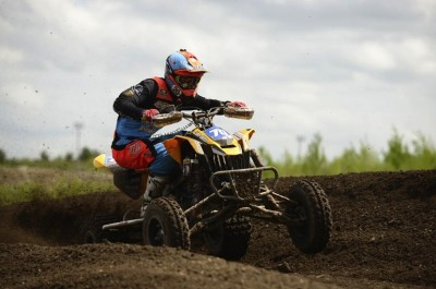 Canadian Can-Am X-Team racer Mathieu Deroy earned his first-ever Pro class victory aboard the DS 450 by winning the NEATV-MX Pro class overall at MX101 in N.H.