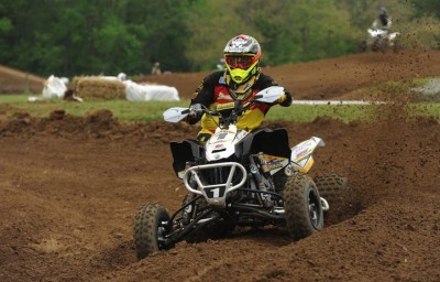 Travis Spader earned a total of five moto wins and two class overalls riding his BCS Performance-tuned Can-Am DS 450 at round four in Indiana.