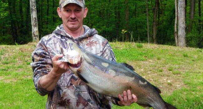 West virginia angler catches new state record rainbow for Wv fish stocking
