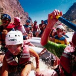 Paddlers raft their way down the Colorado River for Moab, Utah's Raft for the Cure.