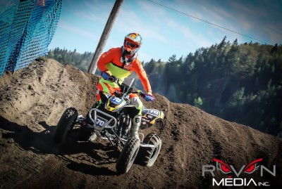 The trio of Mathieu Deroy, Kevin Vachon and Bobby Desjardins rode their Elka-backed Can-Am X-Team-supported DS 450 to the overall win in the General ATV class at the 2013 12 Hours of La Tuque in Quebec, Canada.