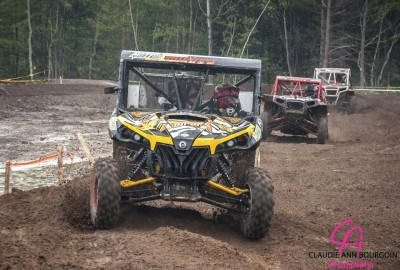 Can-Am Maverick 1000R X rs racer Charles-Antoine Villeneuve recorded the first win in the Canadian Quad Cross MX series in Quebec, Canada.