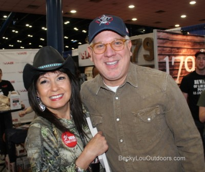 Becky Lou with Beck!! He really did not have the time, but he is such a gentleman, he took the time! THANK YOU GLENN BECK for EVERYTHING YOU DO!