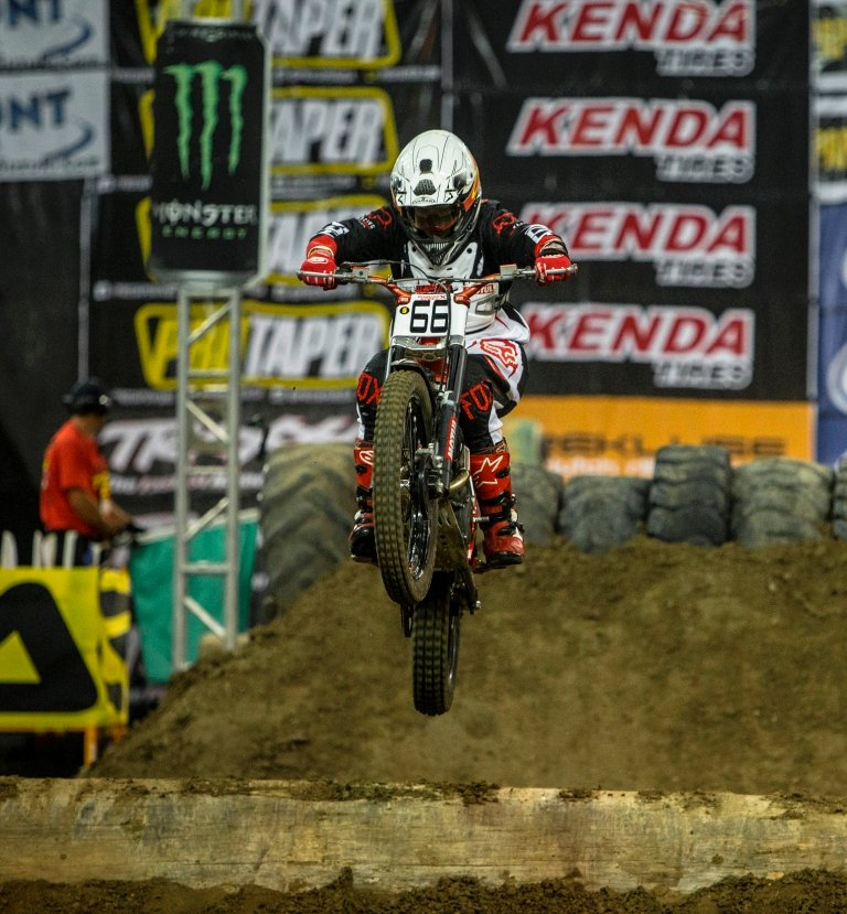 Ty Cullins catching some air on his Mototrial Beta 300.