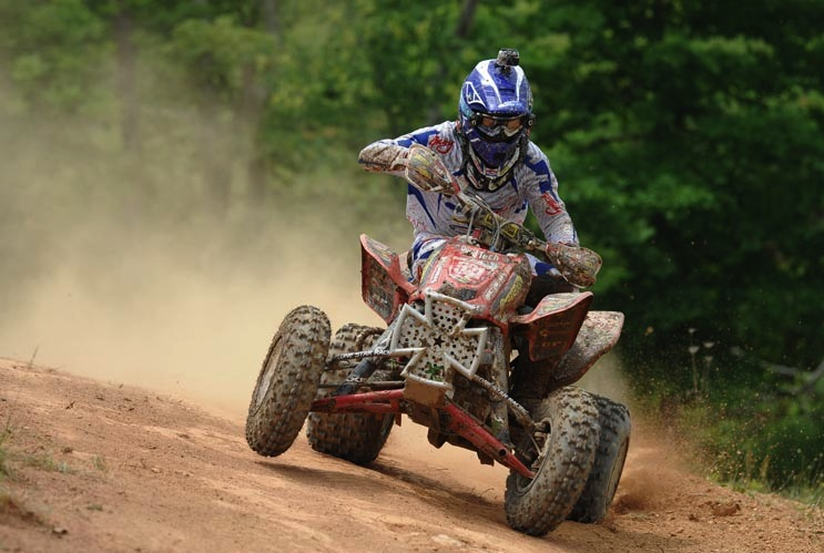 Pro Adam McGill, who ran ITP Holeshot GNCC tires up front and Quadcross XC rear tires, led much of the XC1 ATV Pro class race before ultimately finishing second overall at round seven of the AMSOIL GNCC series in Millfield, Ohio.