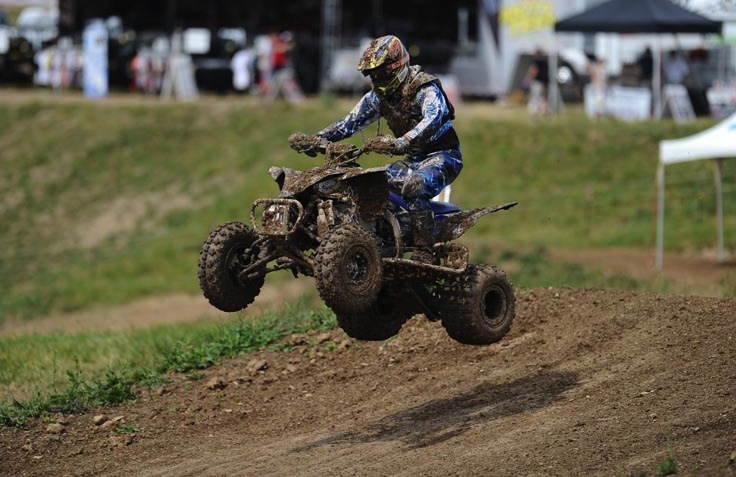 Defending Super Senior (45+) class champion Dave Simmons, running an ITP Holeshot GNCC and Quadcross XC front/rear tire combo, finished third in his class at round seven in Ohio.