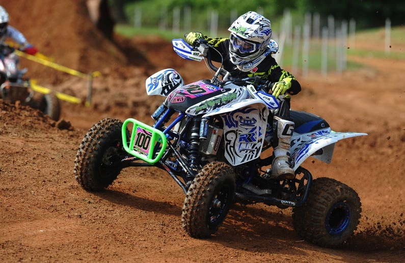 Noah Mickelson, using ITP Quadcross MX2 front tires and Quadcross MX Pro rear tires, won both the 90 Open and Super-Mini (13-15) classes in Danville, Va.