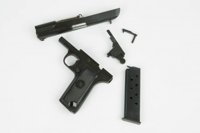Once field stripped, the Browning heritage becomes clear. The Tokarev borrows heavily from both the 1911 and Hi-Power.