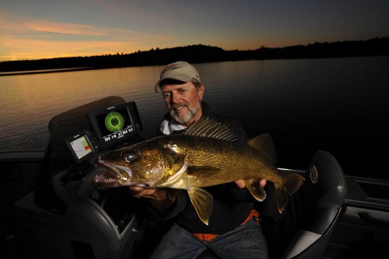Al Lindner says 360 Imaging works like underwater radar, helping him put the bead on roaming open-water walleyes.