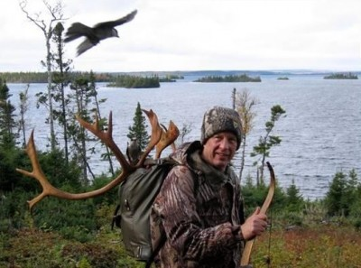 The author, Dennis Dunn in the fall of 2007 on a woodland Caribou hunt in Newfoundland.