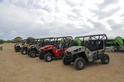 It wasn't easy to walk away from the ATVs and the trails at the end of the excursion, but the screening proved to be an excellent conclusion to the trip.