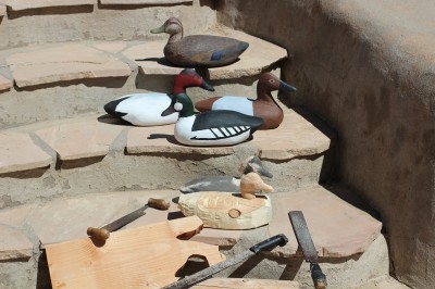 The process of making wood decoys begins with a couple blocks of wood, then some elbow grease with hand tools, and some paint to create the finished product.